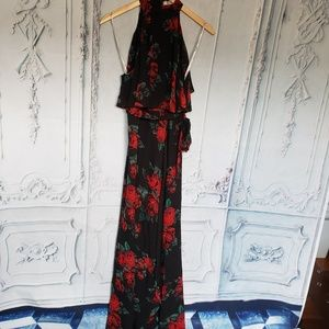 Lovers + Friends Red Floral Golden Ray Maxi Dress